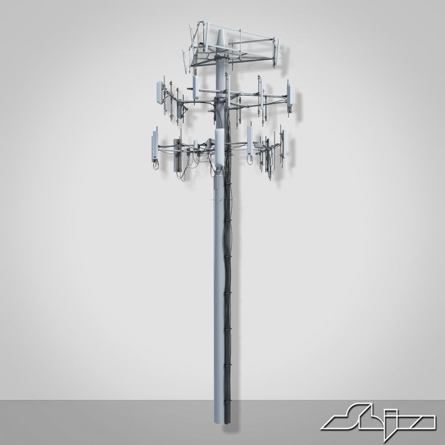Antenne de communication 3 royalty-free 3d model - Preview no. 4