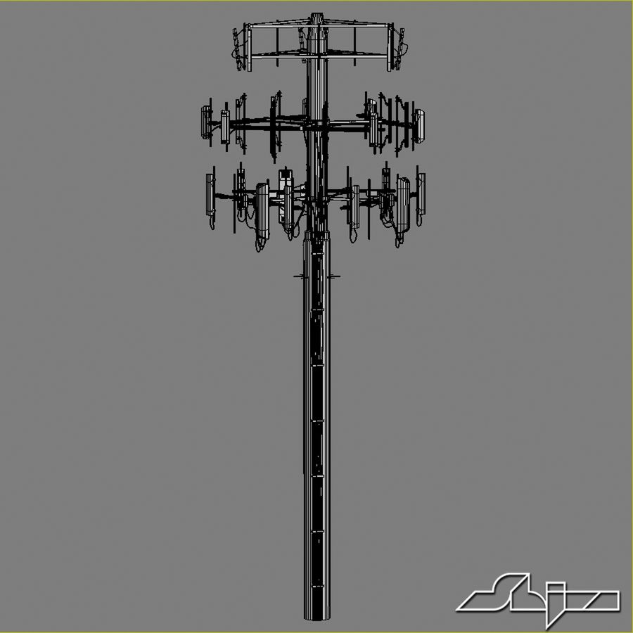 Communication Antena 3 royalty-free 3d model - Preview no. 7