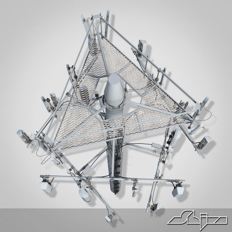 Communication Antena 3 royalty-free 3d model - Preview no. 6