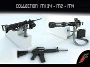 Set 3 weapons 3d model