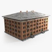 赤レンガの建物 3d model