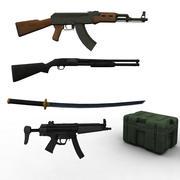 Kolekcja broni 3d model