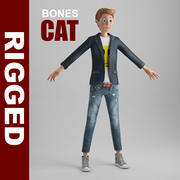 卡通Boy_CAT_rigged 3d model