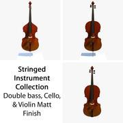 Collection musicale à cordes Matt 3d model