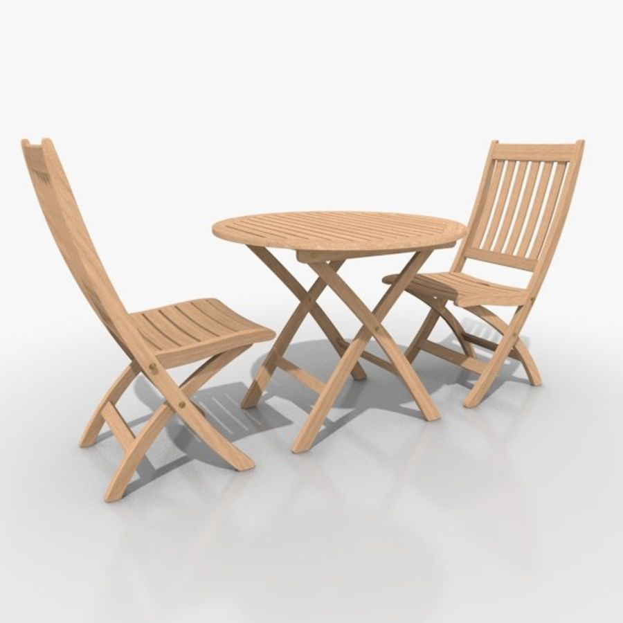 Foldable Furniture Scene royalty-free 3d model - Preview no. 3
