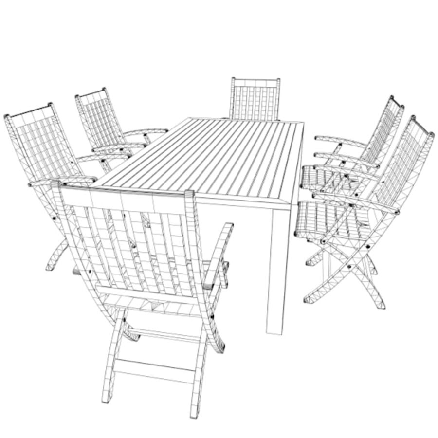 Foldable Furniture Scene royalty-free 3d model - Preview no. 13