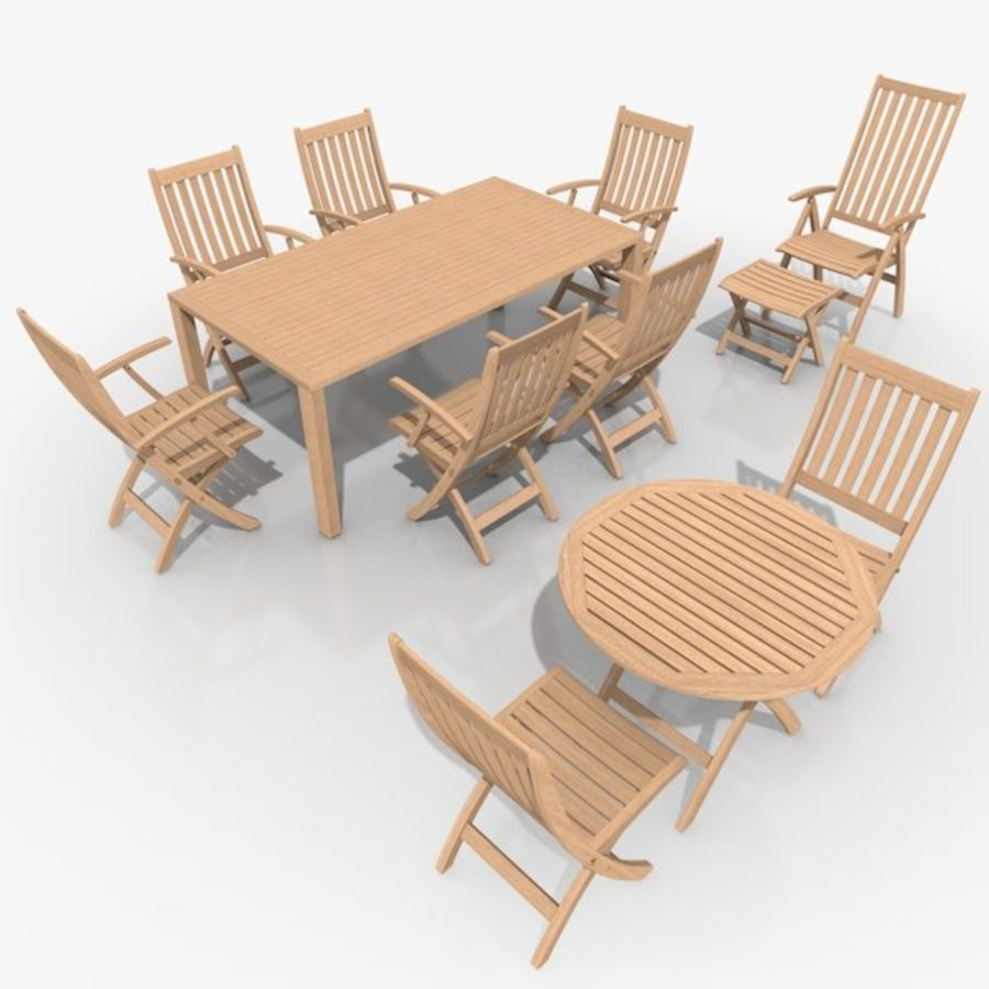 Foldable Furniture Scene royalty-free 3d model - Preview no. 2