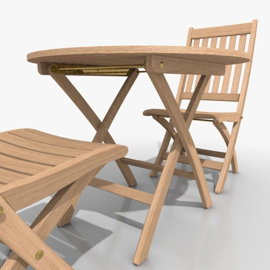Foldable Furniture Scene royalty-free 3d model - Preview no. 5