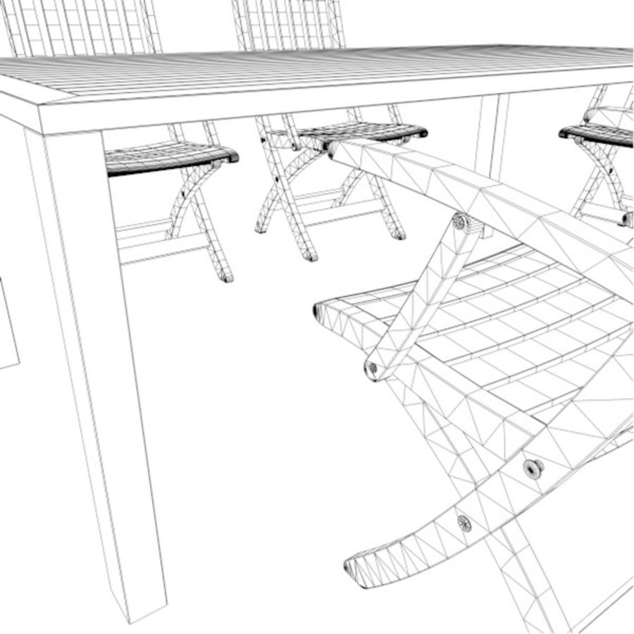 Foldable Furniture Scene royalty-free 3d model - Preview no. 14
