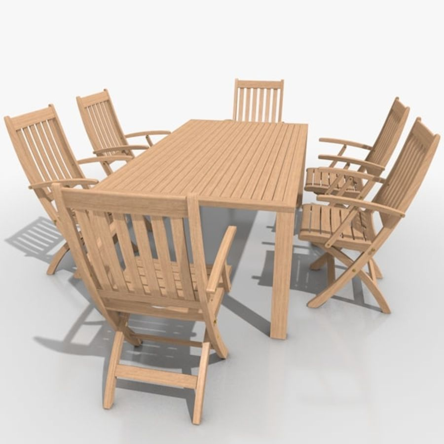 Foldable Furniture Scene royalty-free 3d model - Preview no. 9