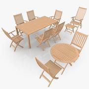 Foldable Furniture Scene 3d model