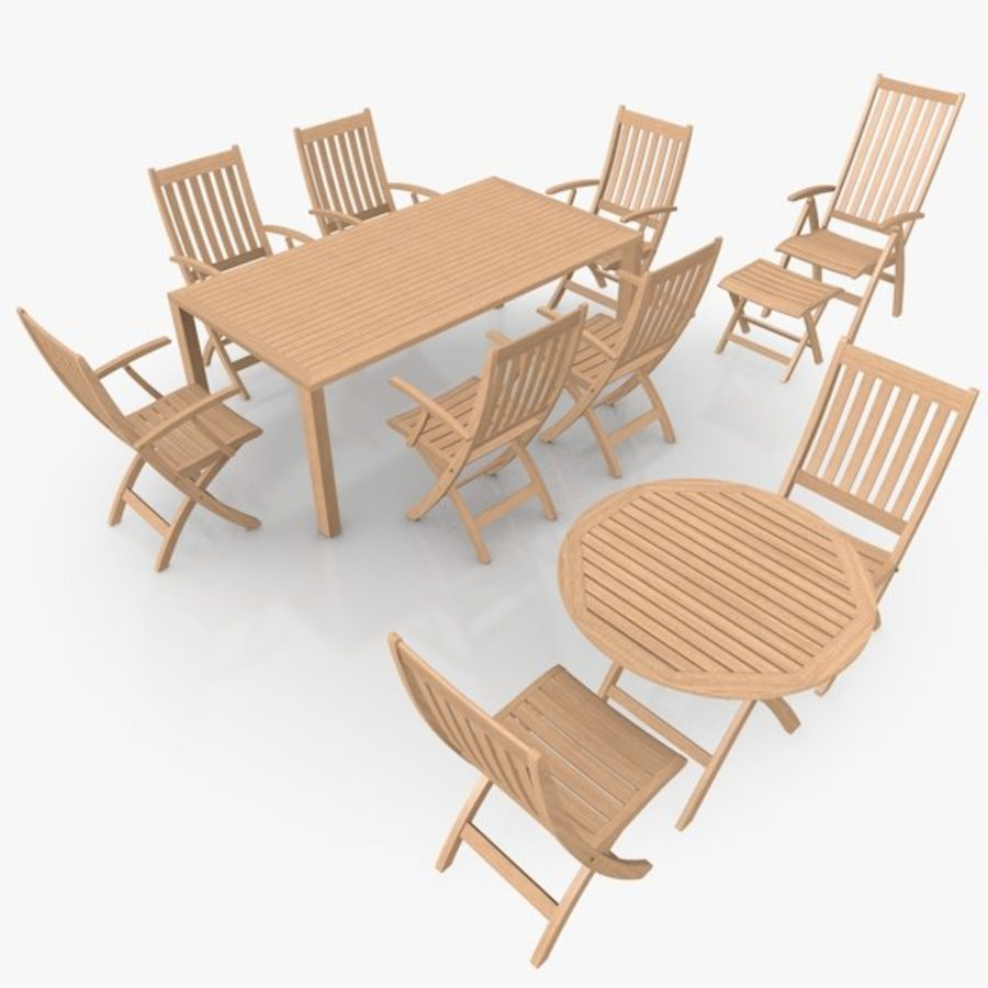 Foldable Furniture Scene royalty-free 3d model - Preview no. 1