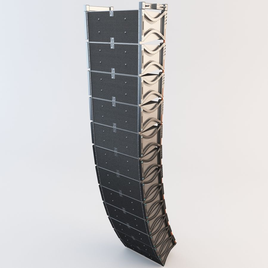 Line Array Speaker System royalty-free 3d model - Preview no. 2