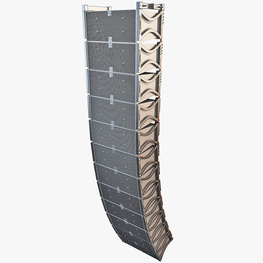 Line Array Speaker System royalty-free 3d model - Preview no. 1