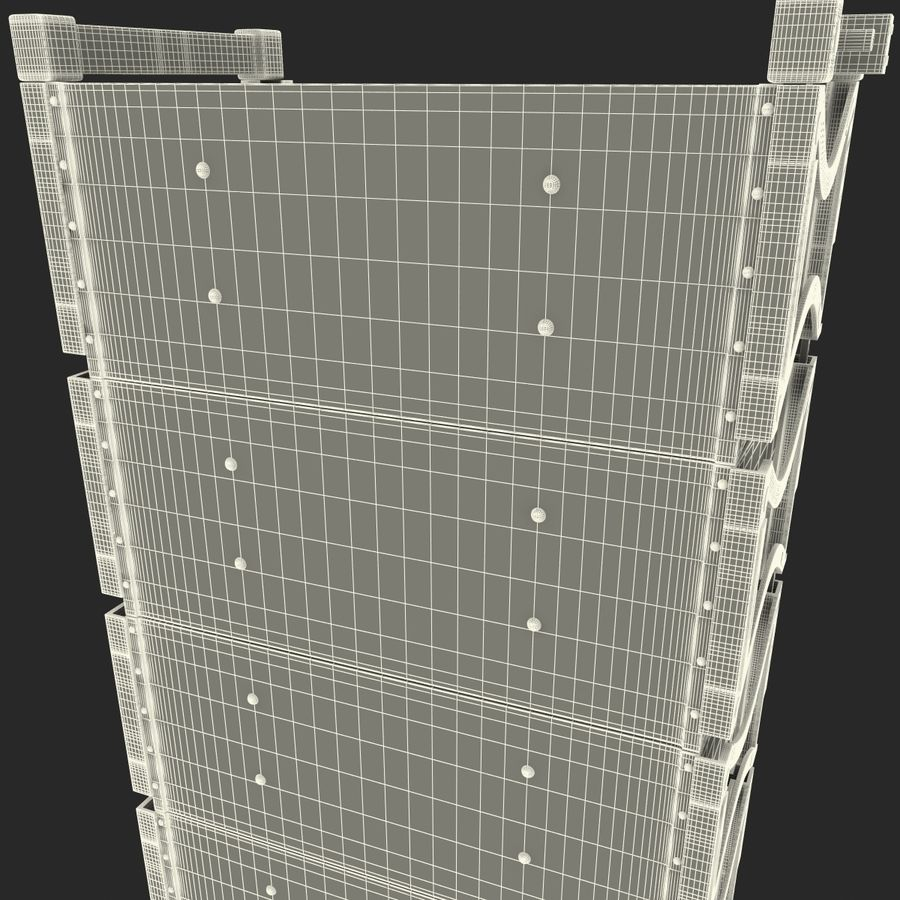 Line Array Speaker System royalty-free 3d model - Preview no. 20