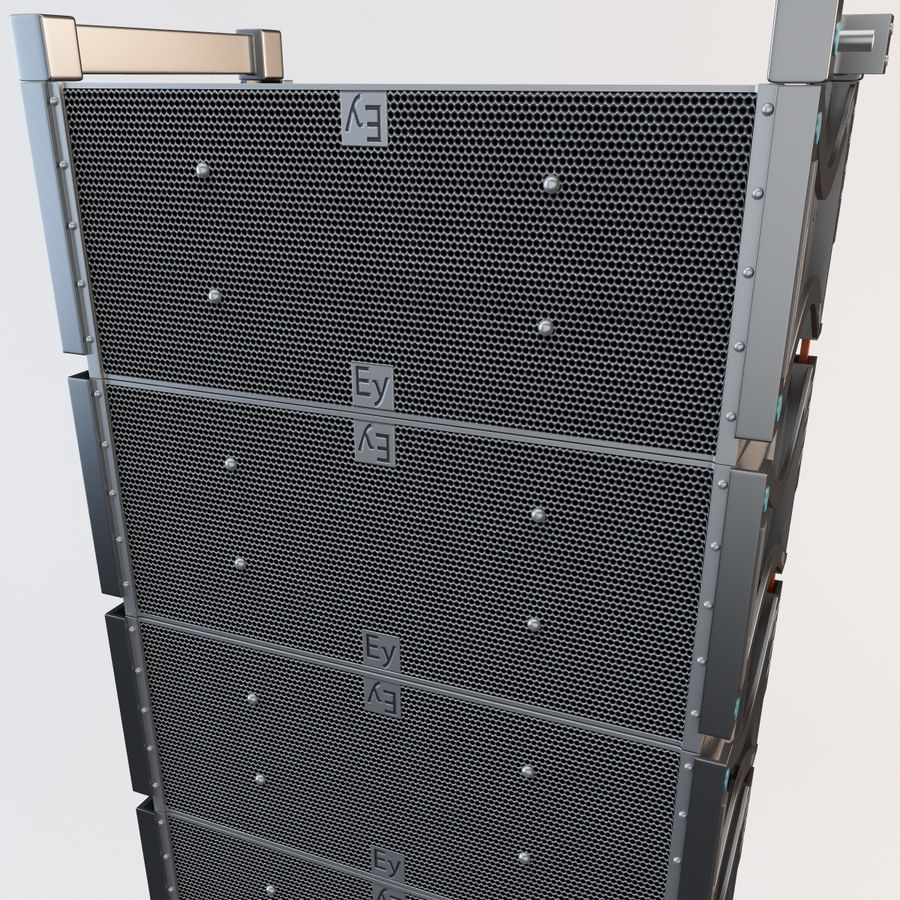 Line Array Speaker System royalty-free 3d model - Preview no. 10