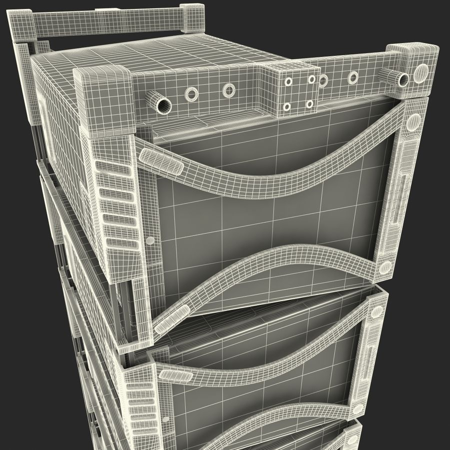 Line Array Speaker System royalty-free 3d model - Preview no. 19