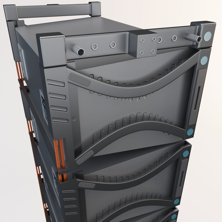 Line Array Speaker System royalty-free 3d model - Preview no. 9