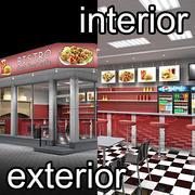 Snabbmat Cafe Ext & Int 3d model