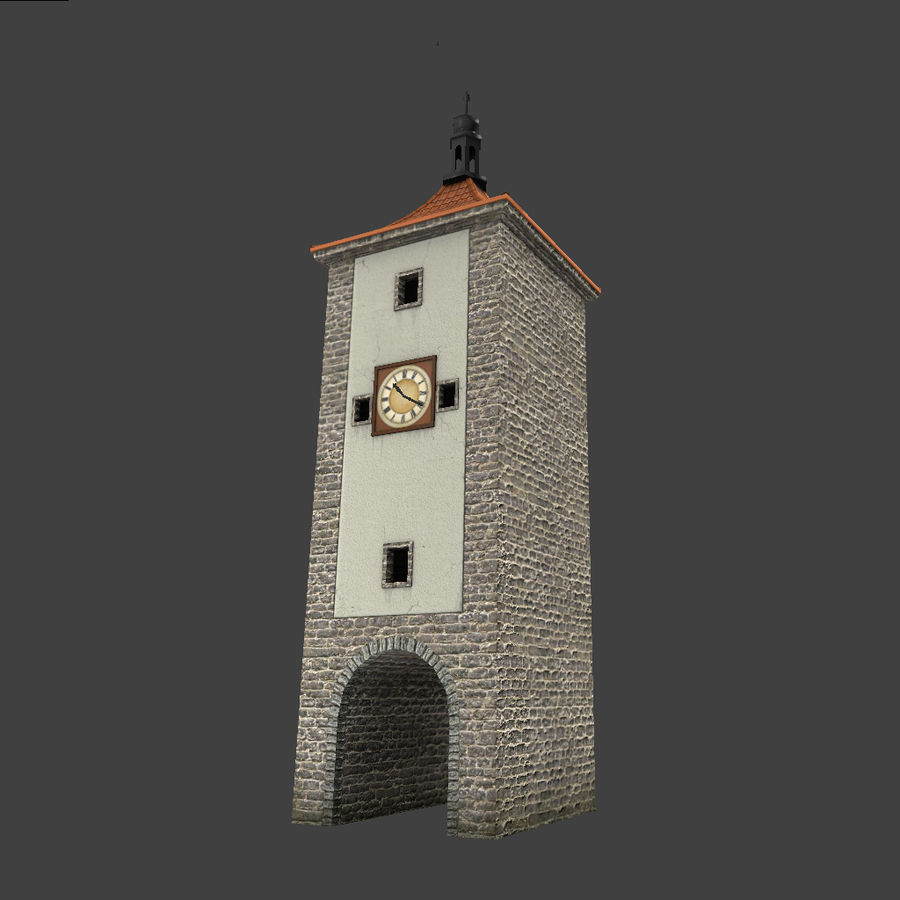 Wieża zegarowa royalty-free 3d model - Preview no. 3
