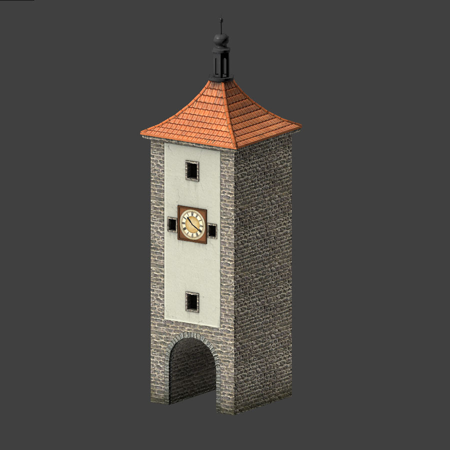 Wieża zegarowa royalty-free 3d model - Preview no. 1