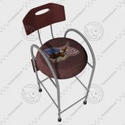 stool USA 3d model