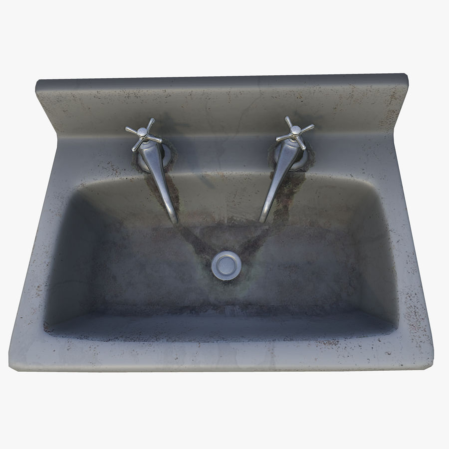 Sink LowPoly royalty-free 3d model - Preview no. 3