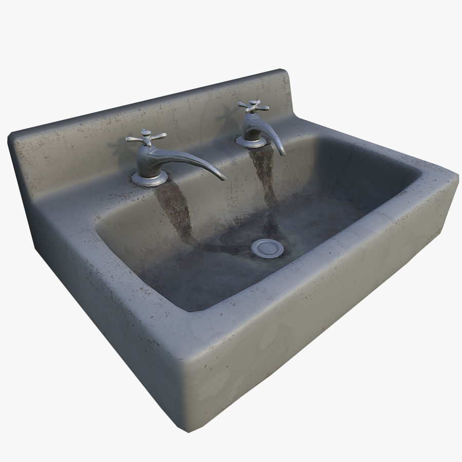 Sink LowPoly royalty-free 3d model - Preview no. 1