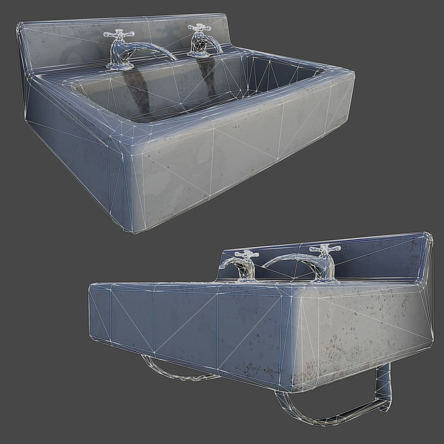 Sink LowPoly royalty-free 3d model - Preview no. 5