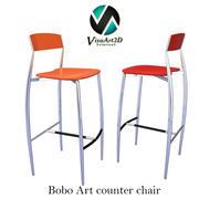 バボアートカウンターまたはバースツール椅子49 3d model