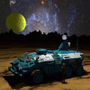 Sci-Fi Armored Car 3d model