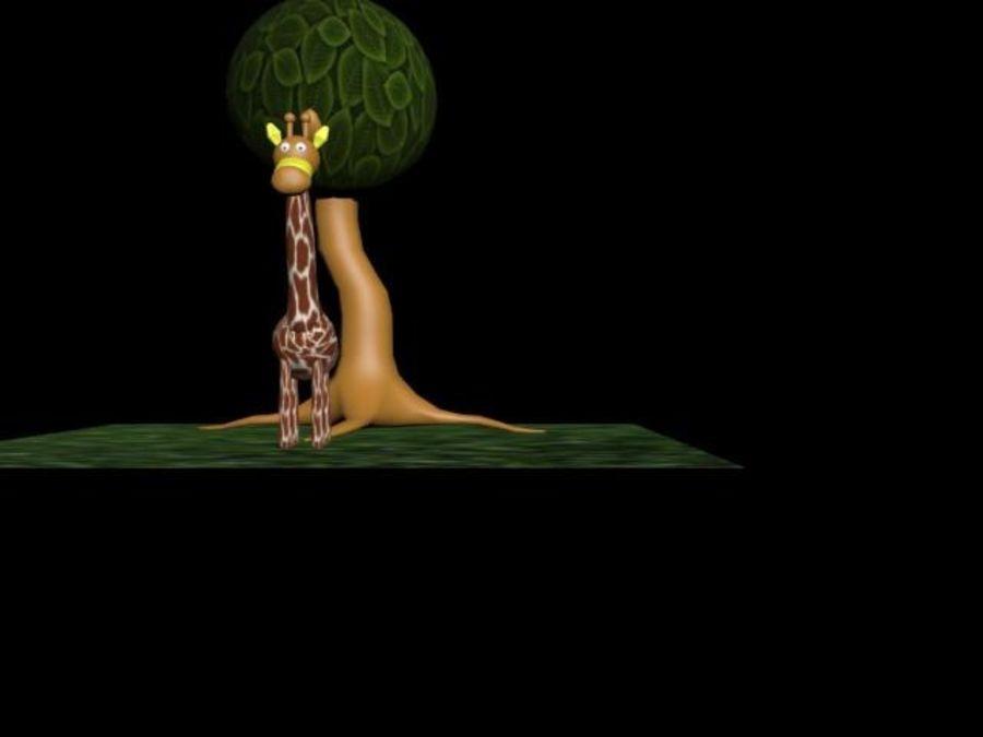Giraffe royalty-free 3d model - Preview no. 5
