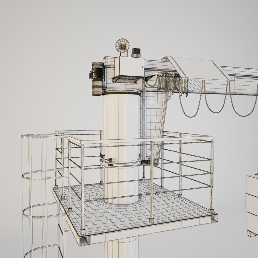 Crane royalty-free 3d model - Preview no. 9