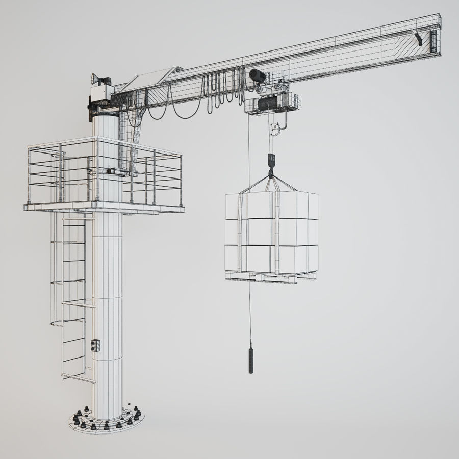 Crane royalty-free 3d model - Preview no. 14