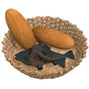 Bröd och fiskar 3d model