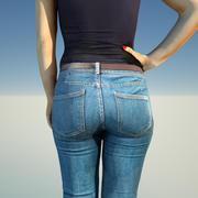 Jeans meisje 3d model