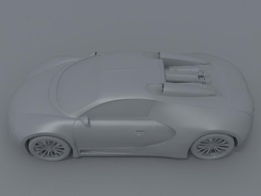 bugatti veyron royalty-free 3d model - Preview no. 7