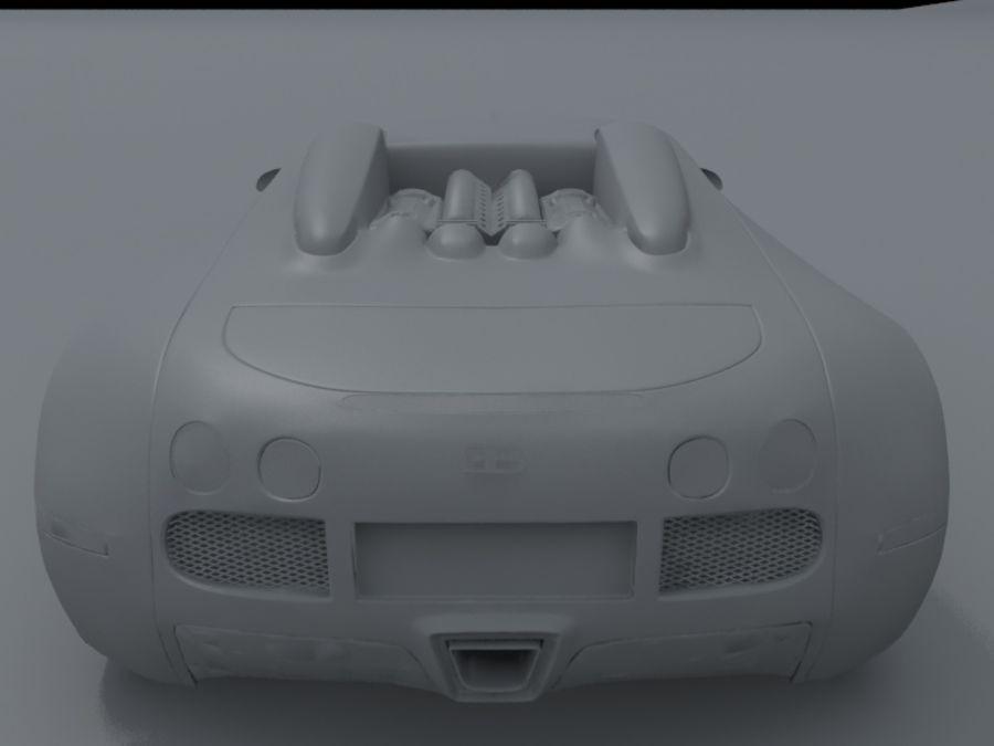 bugatti veyron royalty-free 3d model - Preview no. 9