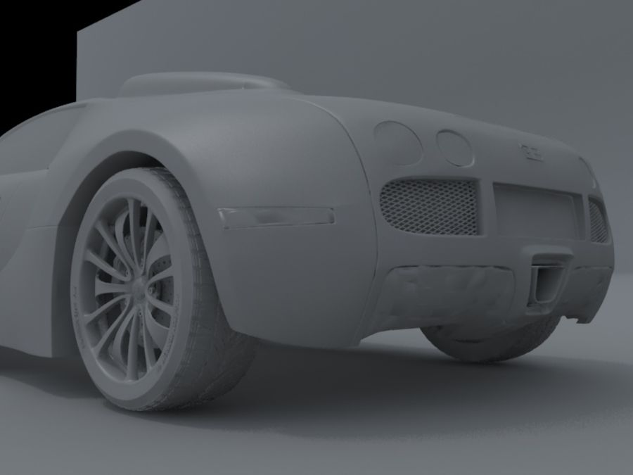 bugatti veyron royalty-free 3d model - Preview no. 8