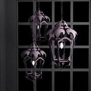 Hanging Lanterns 3d model