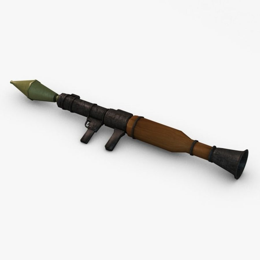 Bazooka Rocket Launcher royalty-free 3d model - Preview no. 3