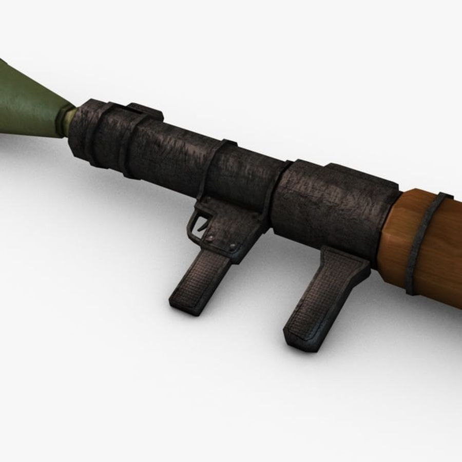 Bazooka Rocket Launcher royalty-free 3d model - Preview no. 4
