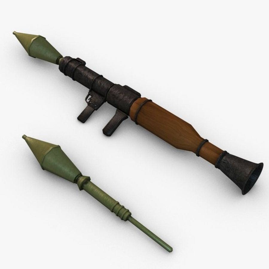 Bazooka Rocket Launcher royalty-free 3d model - Preview no. 2