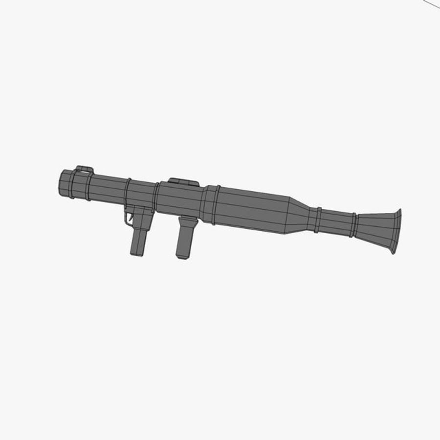 Bazooka Rocket Launcher royalty-free 3d model - Preview no. 10