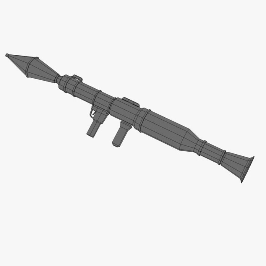 Bazooka Rocket Launcher royalty-free 3d model - Preview no. 9