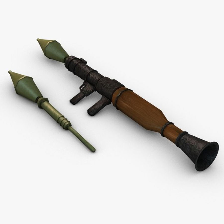 Bazooka Rocket Launcher royalty-free 3d model - Preview no. 6