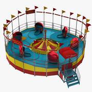 Tilt A Whirl Ride 3d model