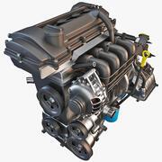 車のエンジン2 3d model