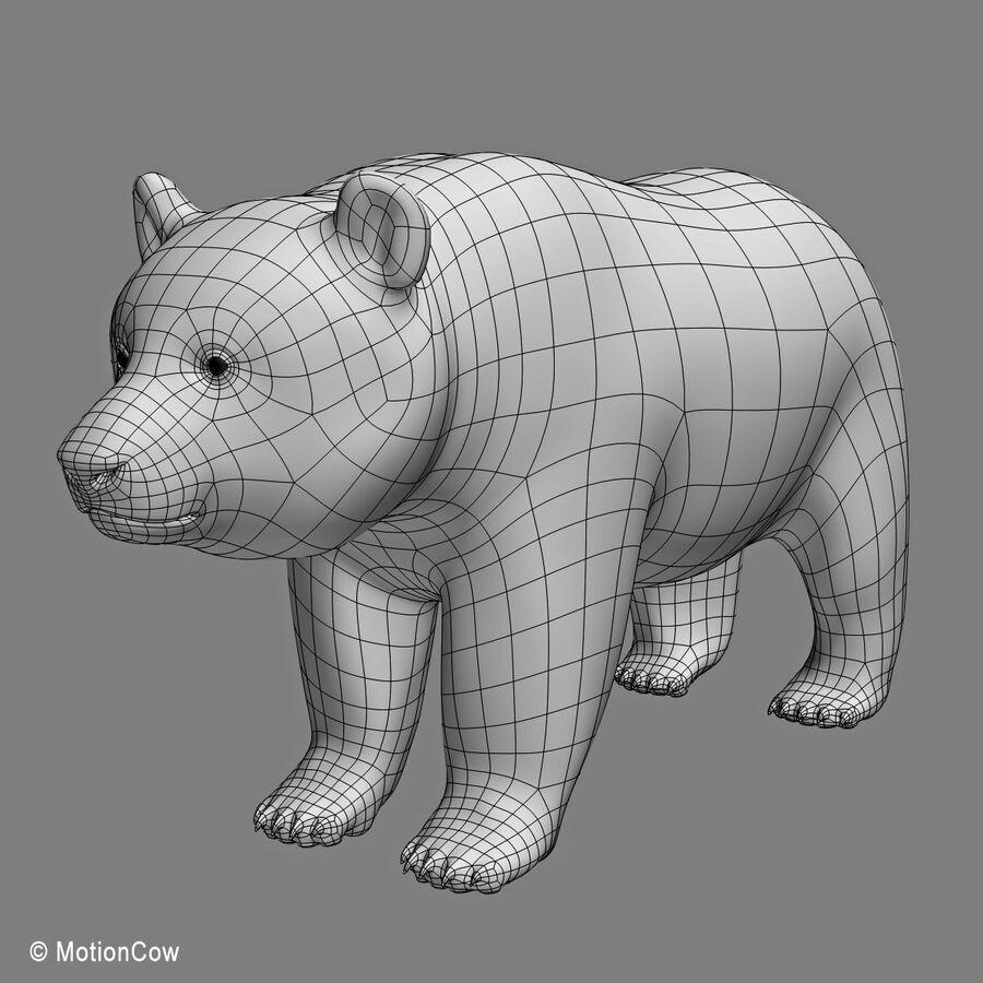Urso panda royalty-free 3d model - Preview no. 17