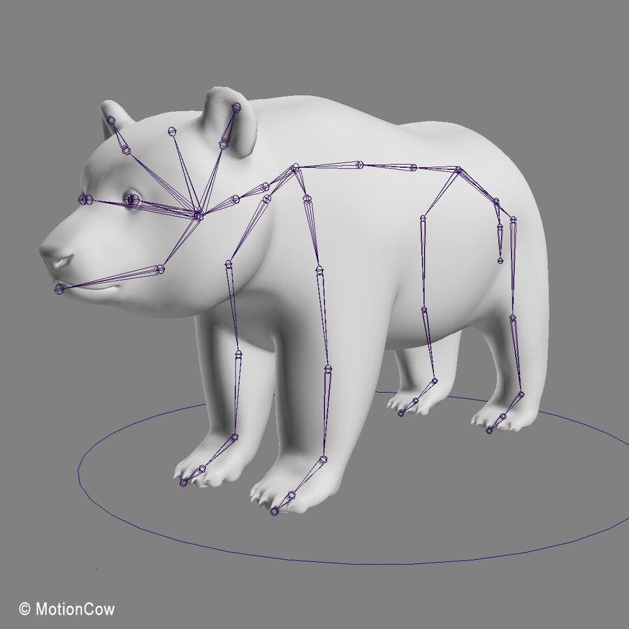 Urso panda royalty-free 3d model - Preview no. 16